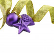 Christmas decoration  on white background isolated — Stock Photo