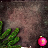 Christmas decoration on old, grunge background — Stock Photo
