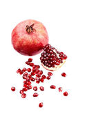 Pomegranate on white isolated — Stock Photo