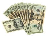 20 Dollar Bills with one 100 Dollar Bill — Stock Photo