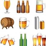 Beer photo-realistic set — Stock Vector #26078759