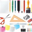 Drawing and office tools photo-realistic set — Stock Vector