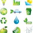 Environment and ecology icons set — Stock Vector