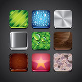 Texture backgrounds for app icons set — Stock Vector