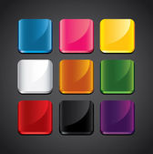 Colorful glossy backgrounds for app icons set — Stock Vector