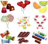 Candies photo-realistic set — Stock Vector