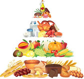 Food pyramid illustration — Stock Photo