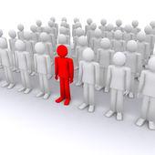 Best, unique, volunteer, crowd — Stock Photo