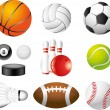 Sport balls photo-realistic set — Stock Vector