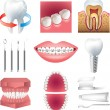 Stock Vector: Tooth healthcare and stomatology photo-realistic set