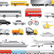 Transport big detailed set — Stock Vector