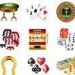 Casino icons detailed set — Stock Vector #26084235