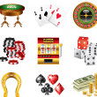 Stock Vector: Casino icons detailed set