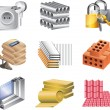 Stock Vector: Building materials icons detailed set