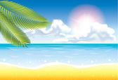 Summer beach background — Wektor stockowy