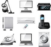 Home appliances detailed set — Stock Vector