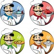 Stock Vector: Italicartoon chef or cook mvector set