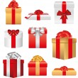 Stock Vector: Christmas gifts and presents