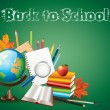 Stock Vector: Back to school background vector illustration