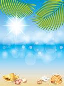Summer holidays vector background — Stock Vector
