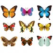 Butterflies photo-realistic vector set — Stock Vector