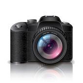 Digital photo camera vector illustration — Stock Vector