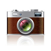 Retro photo camera vector illustration — Stock Vector