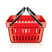 Empty shopping basket isolated on white vector — Stock Vector