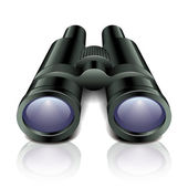 Black binoculars vector illustration — Stock Vector