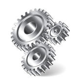 Three gear wheels vector illustration — Stock Vector