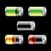 Battery set vector illustration — Stock Vector