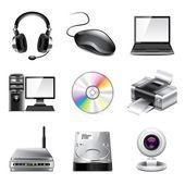 Computer icons photo-realistic vector set — Stock Vector