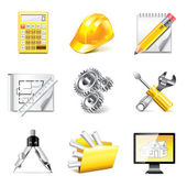 Engineering icons photo-realistic vector set — Stock Vector