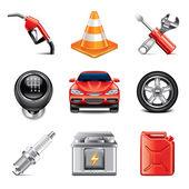 Car service icons photo-realistic vector set — Stock Vector