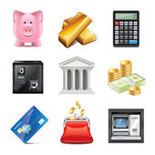 Banking icons photo-realistic vector set — Stock Vector