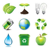 Environment icons photo-realistic vector set — Stock Vector