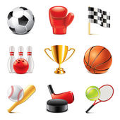 Sport icons photo-realistic vector set — Stock Vector