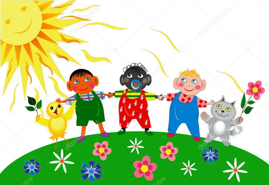 Children's day — Stock Vector © Lanamaster #10658365