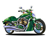Vector isolated green motorcycle — Stockvector