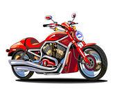 Motocicleta roja realista — Vector de stock
