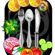 Stock Vector: Vector icon for restaurant and cafe