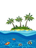 Vector image of Paradise Island — Stock Vector