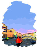 Vector illustration of Grand Canal in Venice — Stock Vector