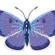Stock Vector: Beautiful isolated blue butterfly