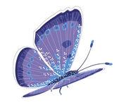 Motyl na białym tle niebieski — Wektor stockowy