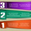 Banners with numbers and place for text — Image vectorielle