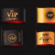 Set of VIP labels — Stock Vector