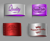 Highest and premium quality textured labels — Stock Vector