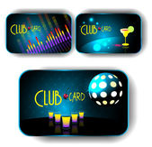 Disko kulüp kartları — Stok Vektör