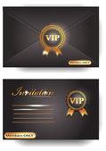 Sobre de la invitación vip — Vector de stock